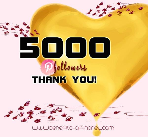 thank you 5000 pinterest followers image