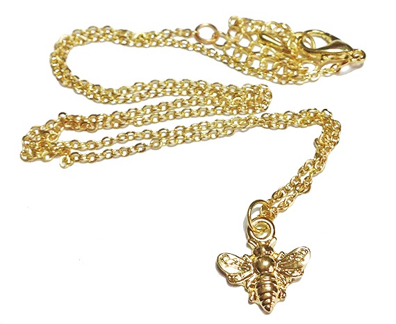 bee gold chain necklace image