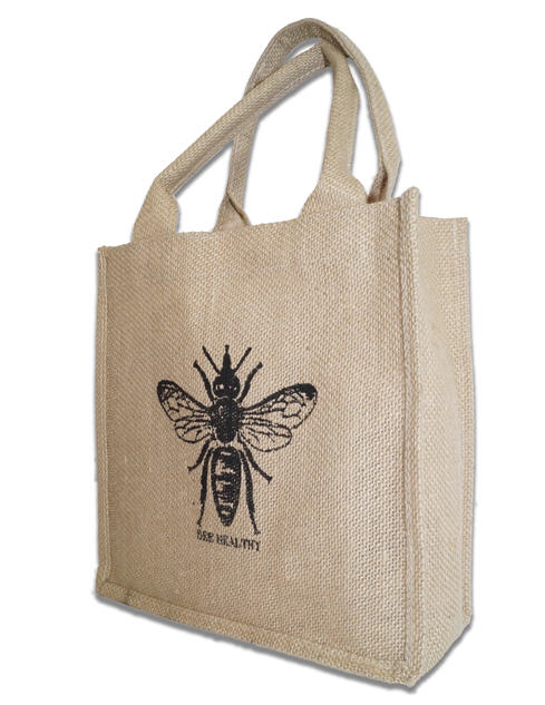 bee healthy jute bag image