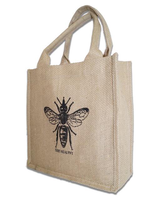 bee healthy jute bag image