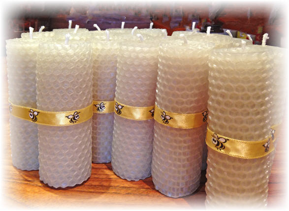 how to make beeswax candles image