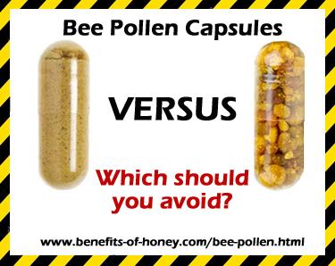 bee pollen capsules powder versus granules image