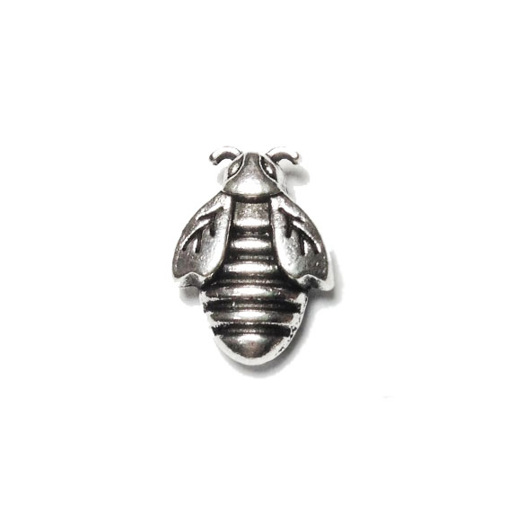 bee antique silver spacer bead image