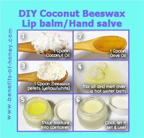 Coconut Beeswax Lipbalm Recipe
