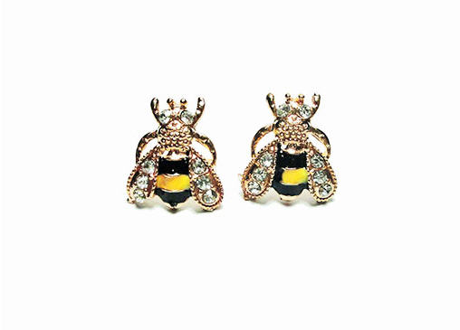 bee earrings image