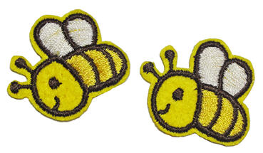 bee iron on patch decoratives image