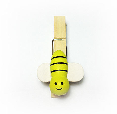 bee wooden pegs image