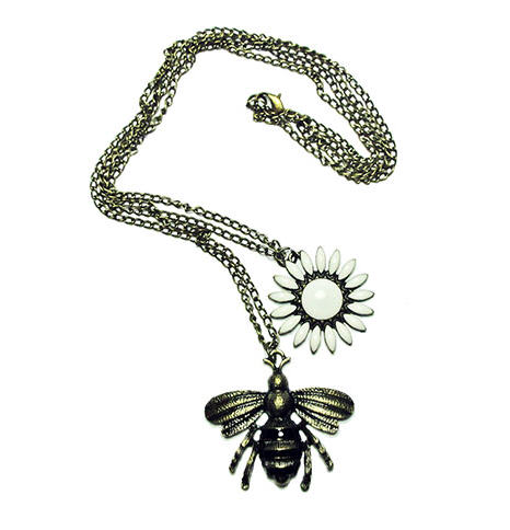 bee and flower necklace image