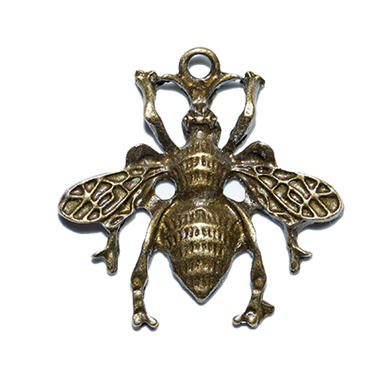 bronze queen bee charm image