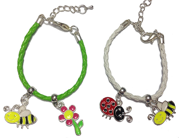 bee colorful bracelets pair image