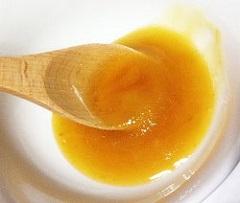 cream honey turning into liquid image
