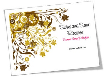 sweet and sour recipe book image