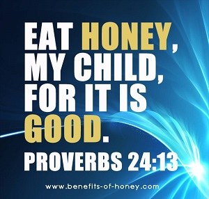 eat honey proverb poster graphic