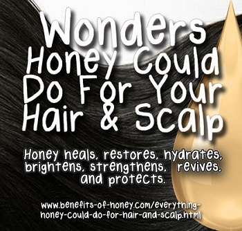 honey for hair and scalp image
