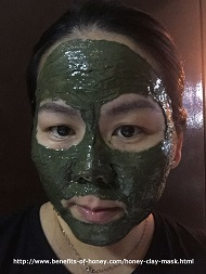 honey clay mask image