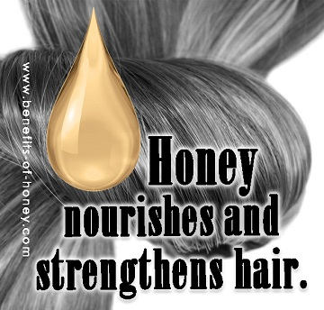 honey hair care image