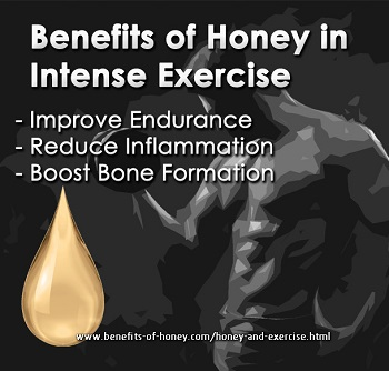 honey benefits and exercise image