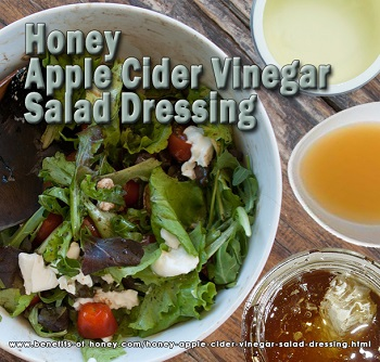 honey apple cider vinegar salad dressing image