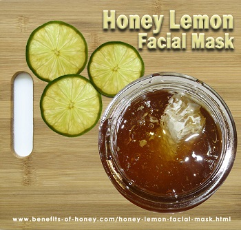 honey lemon facial mask image