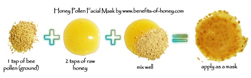 honey pollen face mask image