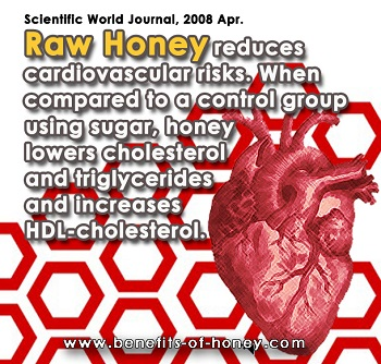 honey reduces bad cholesterol poster image