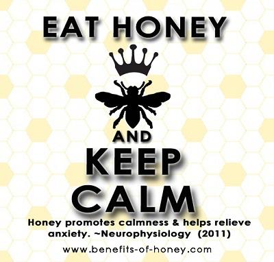eat honey and keep calm image