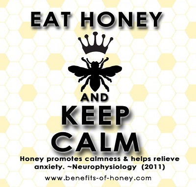 eat honey keep calm poster image