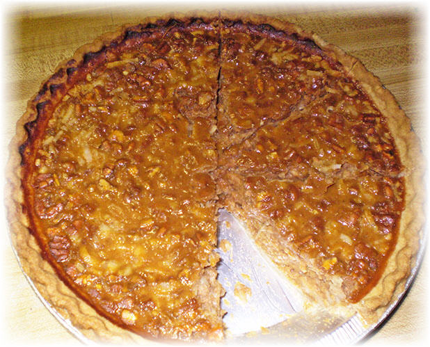 pecan pumpkin pie recipe image