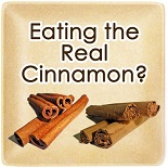Eating real cinnamon image