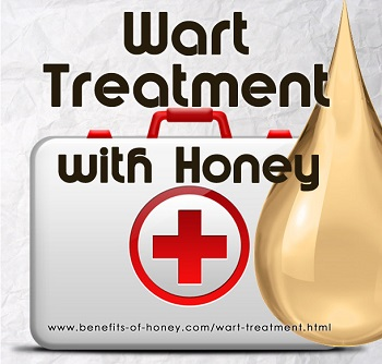 wart treatment with honey poster image