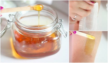 wax body hair with honey image