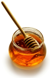 honey with stick graphic