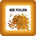 honey cure with bee pollen button