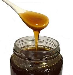 spoon of chestnut honey imagege